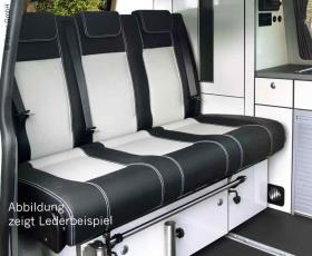 Sleeping bench VW T6/5 CityVan V3000 size 14 3-seater, leather 2-colour 2 heat e