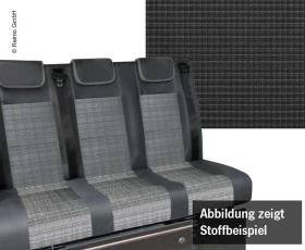 Sleeping bench VW T6.1, CityVan V3000 size 14 3-seater, pad Double Grid 2 fbg