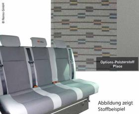 Sleeping bench VW T5 Weekender Plus V3000 Gr.14 3-seater, Place T5 2-colour heat.
