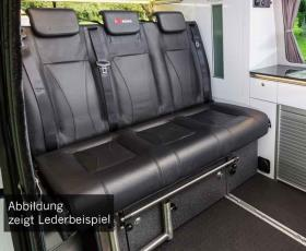 Sleeping bench VW T6/5 Trio Style V3000 size 8 3-seater leather 2 colour heat ex