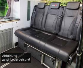 Sleeping bench VW T6/5 Trio Style V3000 Gr.8 3-seater leather 2-coloured right-h