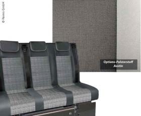 Sleeping bench VW T5 Trio Style V3000 Gr.8 3-seater upholstery Autin T5 2fbg.