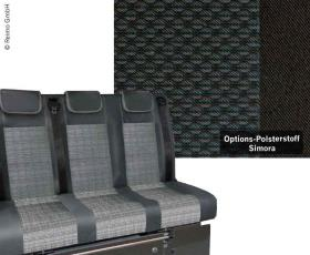 Sleeping bench VWT6 V3100 size 8 rigid 3-seater upholstery Simora T6 2-colour heat