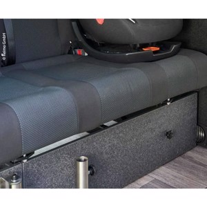 Front cover sleeping bench VW T6/5 V3100 rigid size 8 decor basalt.