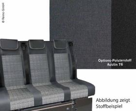 Sleeping bench VW T6 V3100 size 10 rigid, 3-seater, upholstery Austin T6 2 colours