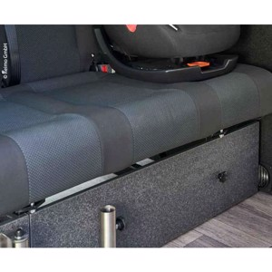Front cover sleeping bench VW T6/5 V3100 rigid size 10 decor basalt mounted