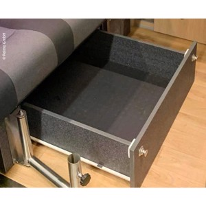 Drawer sleeper bench VW T6/5 V3100 Gr.108 Trio Style Decor Basalt Mounted