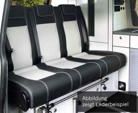 Sleeping bench Merc. Vito LR 2015 V3000 size 8 3-seater, leather 2-coloured