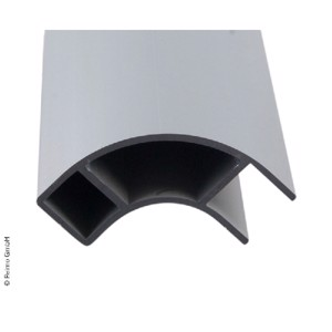 Aluminium furniture corner profile 2.2m open on one side
