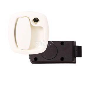 Damper lock with inner part for HSC cylinder white, without cylinder