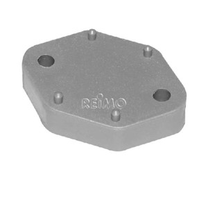 Spacer plate, height 10mm, grey