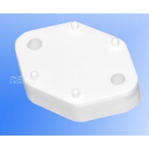Spacer plate, height 10 mm, white