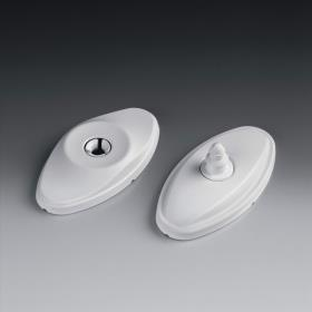 Door catch white plastic