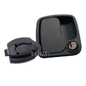 Euro garage lock black without cylinder and key