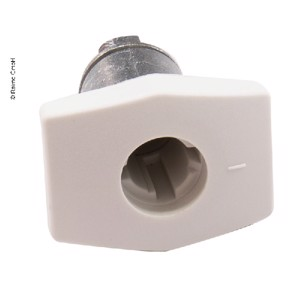 PushLock quadrate white without cylinder and key