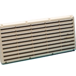 Surface-mounted ventilation grille