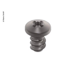 VeryLow Profile Stainless Steel Screw for panel mounting, 10 pcs.