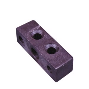 Square furniture connector (brown) 10 pcs.