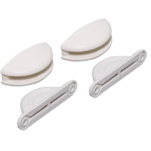 Door stop white plastic 2 pcs.