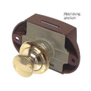 Push lock for double-sided operation (colour: gold)
