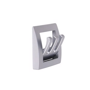 Wardrobe holder matt silver 1 piece, folding, 3 hooks