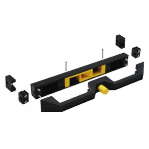 Handle with snap-in function, black, for wide drawers (up to 110cm)