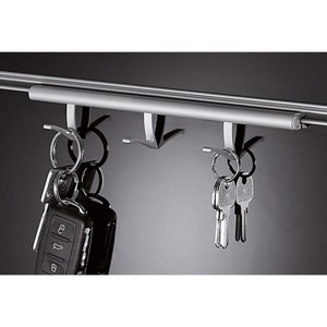Guide rail with 3 hooks, aluminium 200 mm