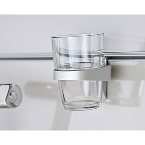 glass holder aluminium, silver, for 1 glass or cup