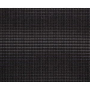 Upholstery Fabric Double Grid Titanium Black 3mm Laminated, 180cm wide