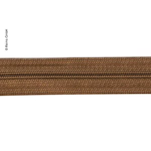 Endless zipper as yard ware in brown, 2,5cm wide