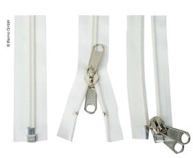 Tent-zip white with double lead
