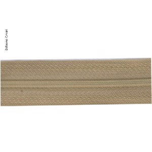 Endless zipper as yard ware in beige, 2,5cm wide