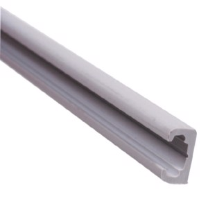 Grey plastic curtain rail 2,2m