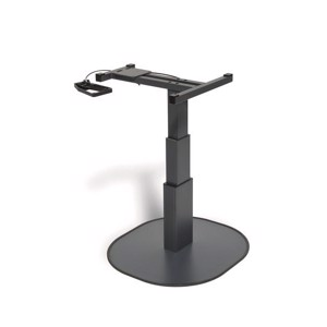 Single column lift table CATCH anthracite, H:337-700mm, swivel fitting