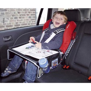 Play table for child seat, black, dimensions approx. B43xH36/30cm