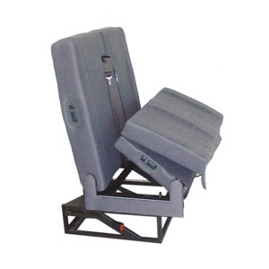 SK7 bench seat complete set 95cm, upholstery two-tone light grey/anthracite