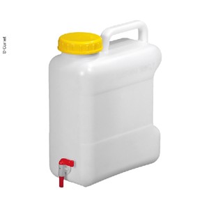 Wide neck canister with closure depot, 10L ht