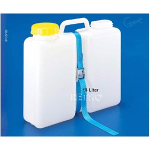 Wide neck canister with closure depot, 13L - incl. lashing strap