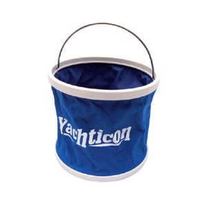Folding bucket 9 litres with stable bottom and storage bag