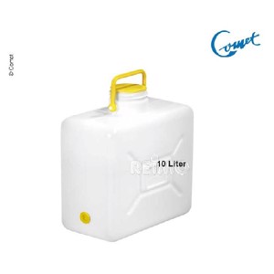 Wide neck canister with handle 10l