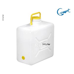 Wide neck canister with handle 14l