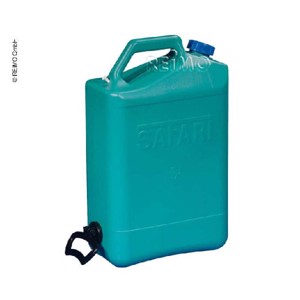 Water canister with spout closure, 23 l