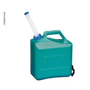 Water canister with spout cap 15 litres