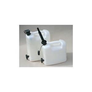 Combi-Frischw.canister with outside pourer and drain cock 20l