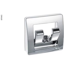 coat hook, chrome, foldable, with 2 hooks, 58x58x13mm, loose