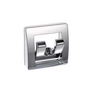 coat hook, chrome, foldable, with 2 hooks, SB-packed