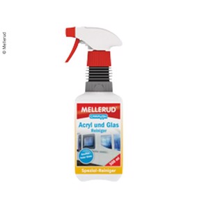 Mellerud Acrylic and Glass Cleaner, 500 ml, in spray bottle
