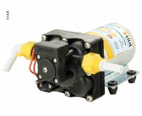 LILIE Soft Series diaphragm pump white yellow with bypass control 11,3l/min