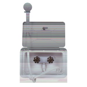 Outdoor shower box, white, lockable, 345x220mm