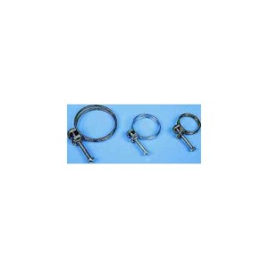Hose clamp for spiral hose 40 mm, 2 pieces